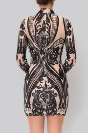 Banjul Transparent Fitted Dress - Front full body