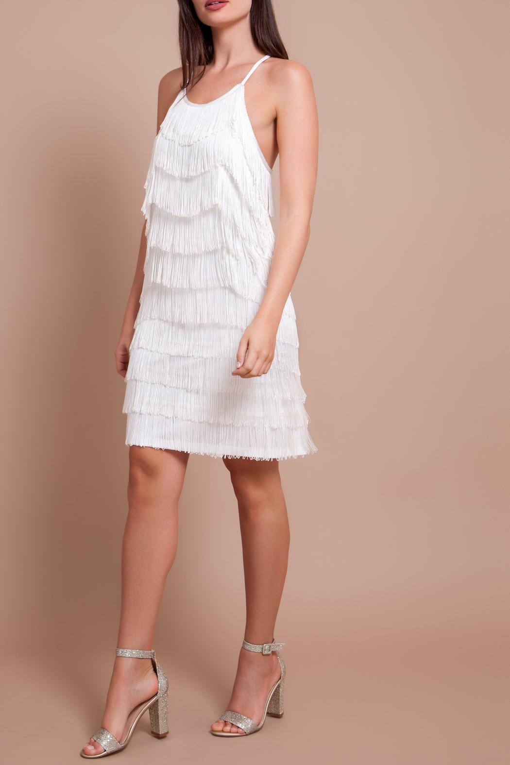 Banot By Loulou Liam White Fringe Dress Front Cropped Image