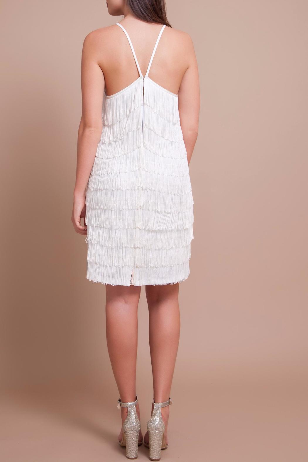Banot By Loulou Liam White Fringe Dress Front Full Image