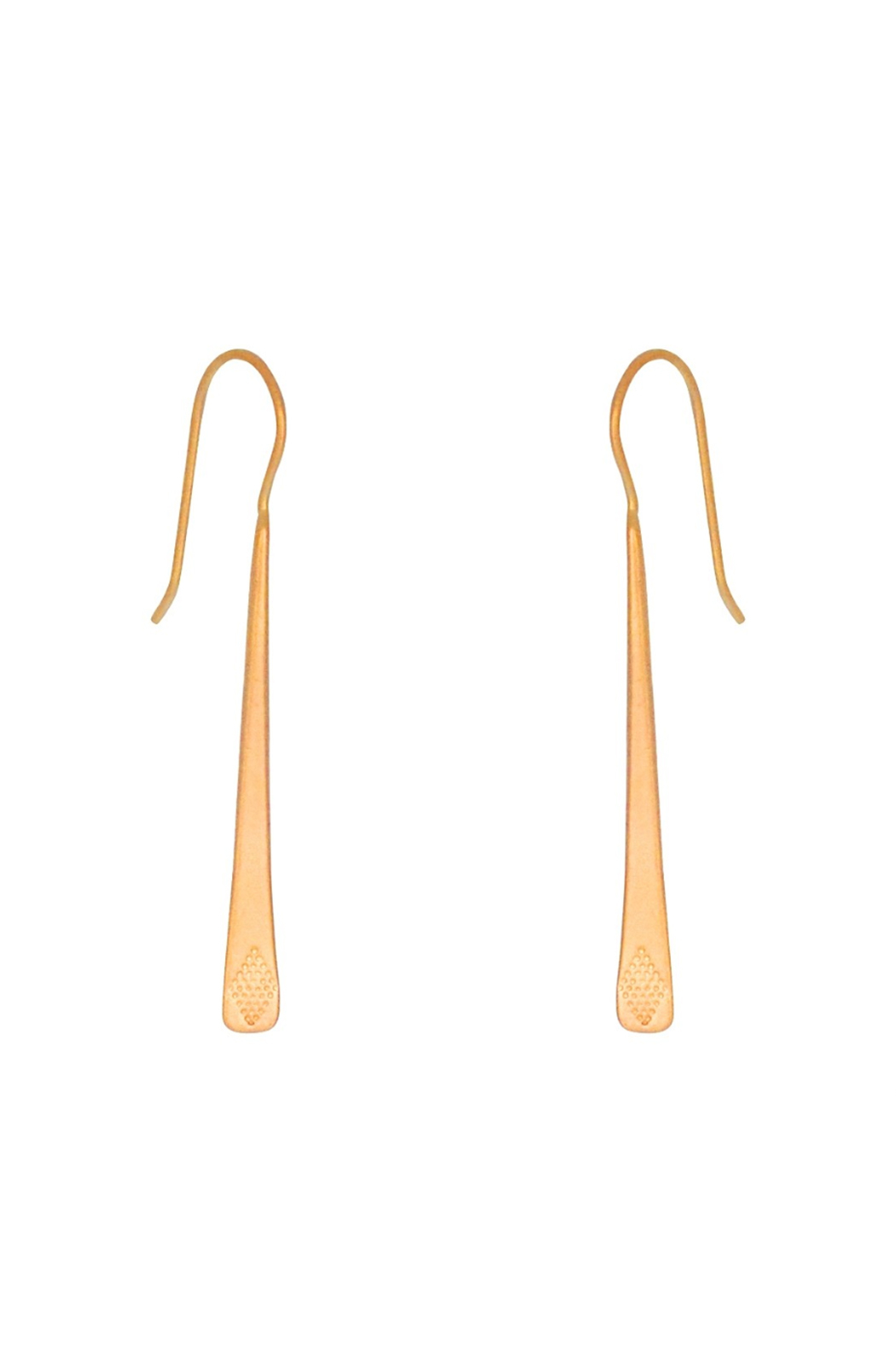 Bronwen Bar Drop Gold Earrings - Main Image