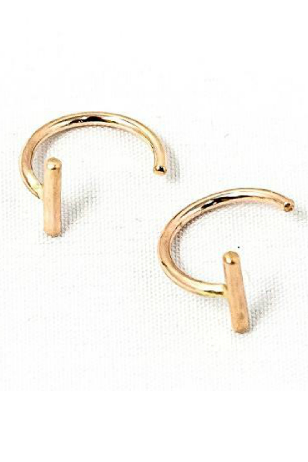 Adorn512 Bar hoop earring - Front Cropped Image