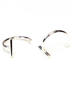 Adorn512 Bar hoop earring - Alternate List Image