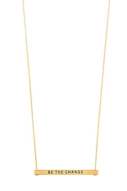 Miss Darlin Bar Pendant Necklace - Product Mini Image