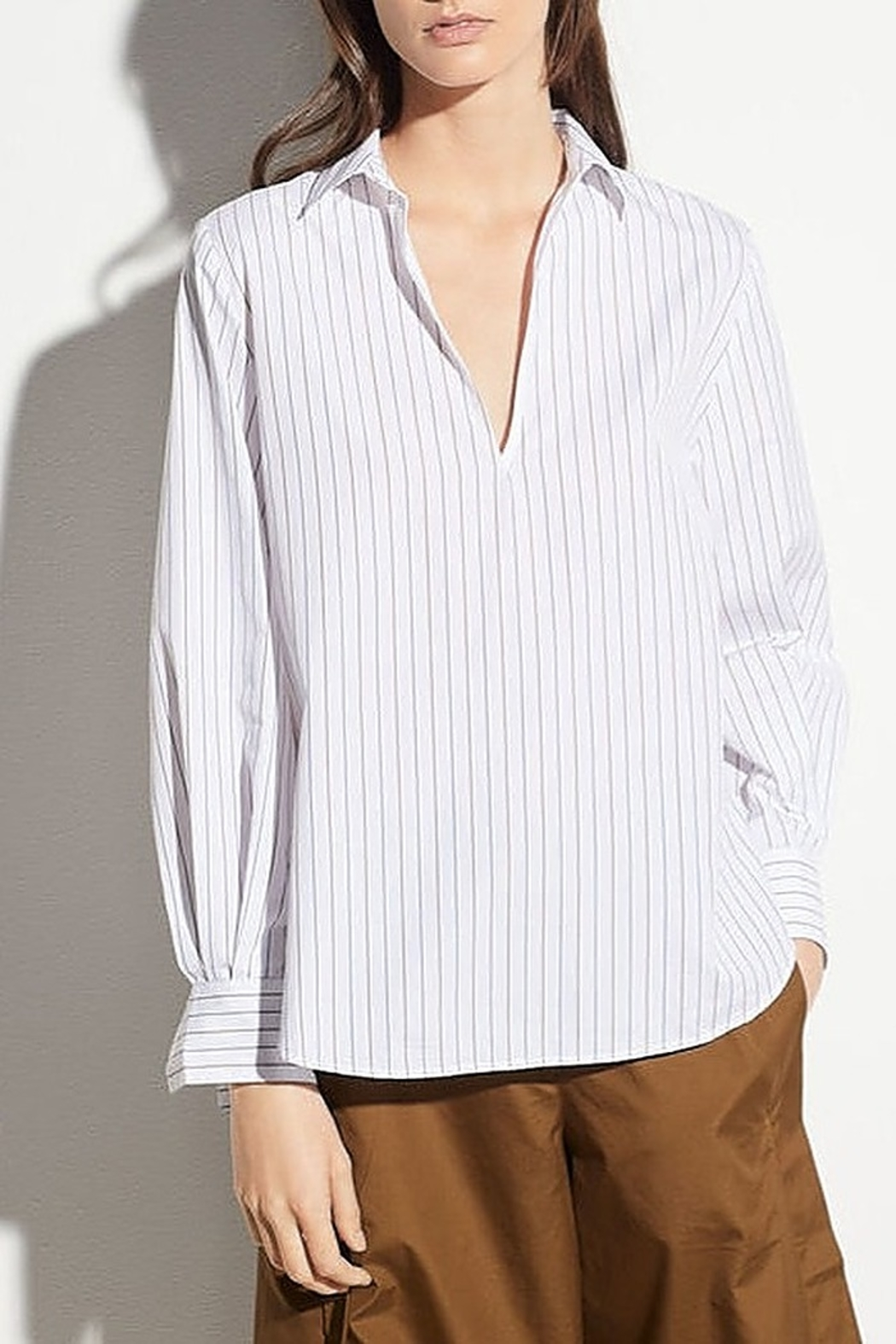 Vince Bar Stripe Top - Front Cropped Image