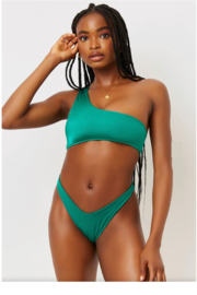 Frankies Bikinis Barb Shine One Shoulder Bikini Top - Product Mini Image