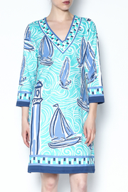 Barbara Gerwit Blue Boat Tunic Dress - Front cropped