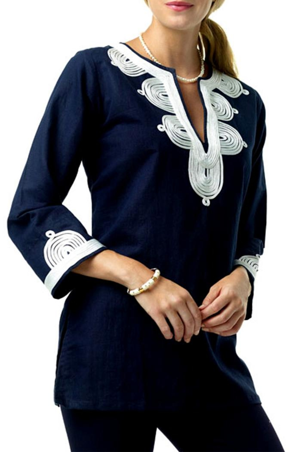 Barbara Gerwit Linen Embroidered Tunic - Main Image
