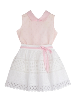 Shoptiques Product: Pink & White Brocade Set