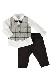 Barcellino 3 Piece Completo Suit in Linen Baby Boy Outfit - Product Mini Image