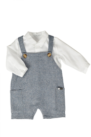 Barcellino Baby Cotton Romper | Juimpsuit for New Born 2 Piece Set - Product Mini Image