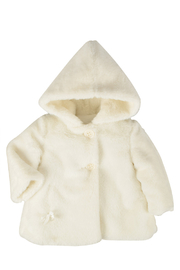 Barcellino Hooded Fur Coat For Boys | Girls | New Borns | Winterwear Jacket - Product Mini Image