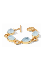 Julie Vos Barcelona Bracelet Gold Iridescent Chalcedony Blue - Product Mini Image
