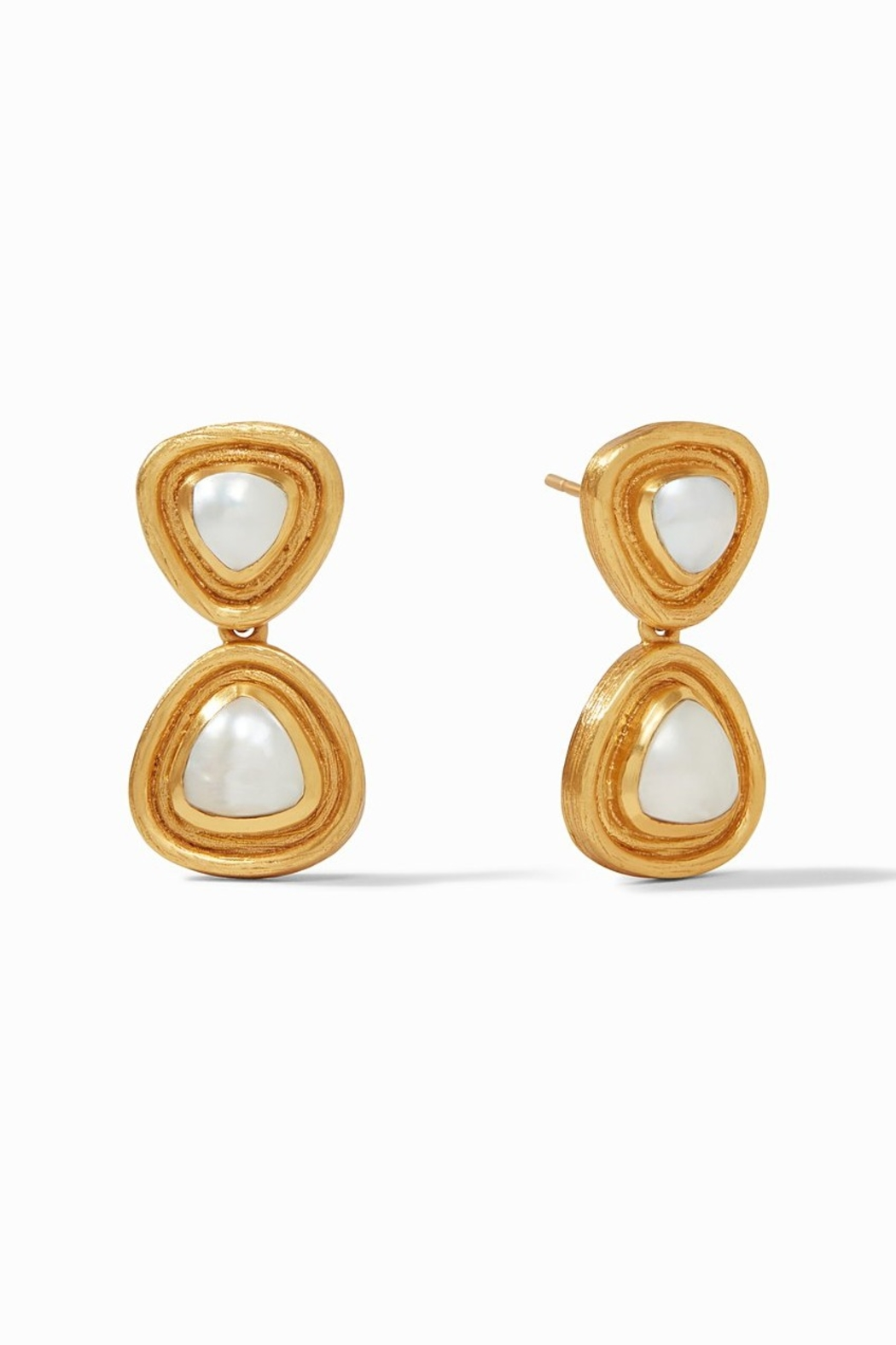 Julie Vos Barcelona Midi Earring Gold Pearl - Main Image