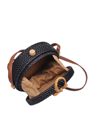 Urban Expressions Barcelona Round Straw Bag - Side cropped