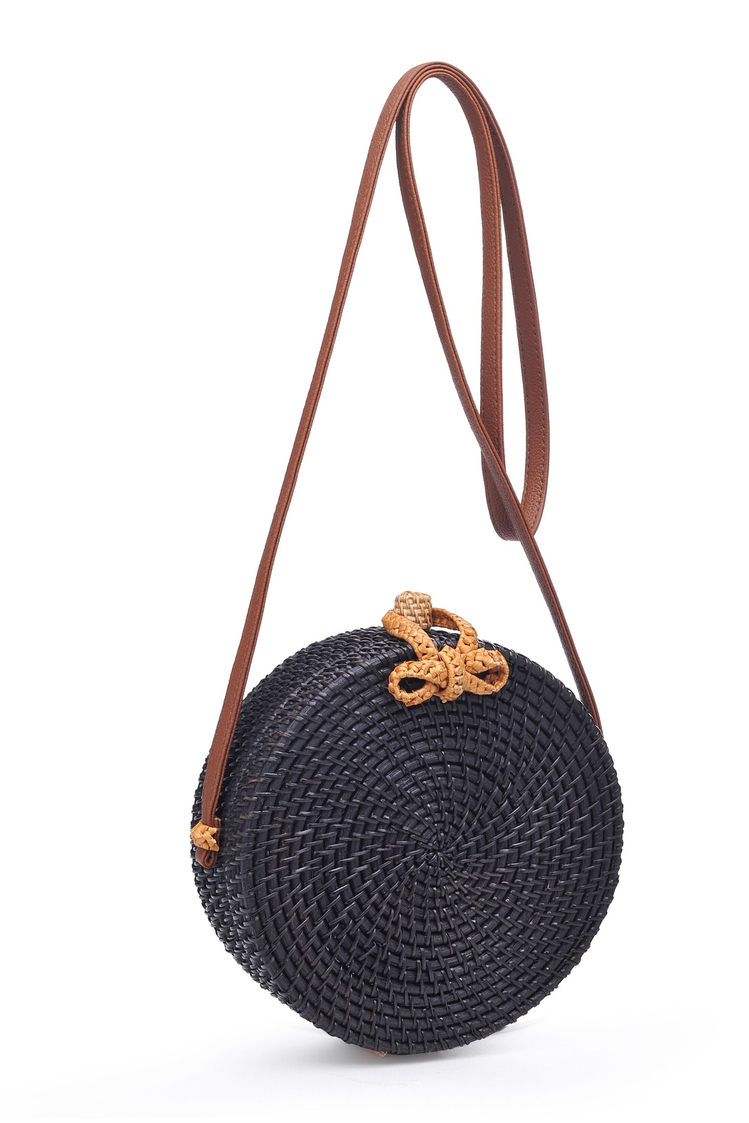 Urban Expressions Barcelona Round Straw Bag - Front Full Image