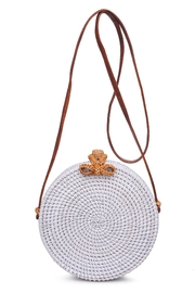 Urban Expressions Barcelona Round Straw Bag - Front full body