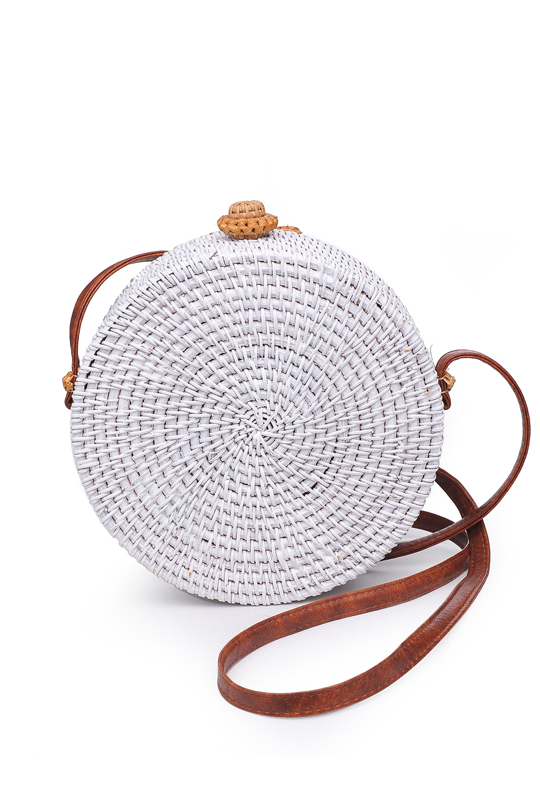 Urban Expressions Barcelona Round Straw Bag - Front Cropped Image