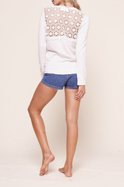 Mickey & Jenny Bardot lace back tie front Top - Front cropped
