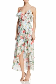 Bardot Womens Ruffled Floral Faux Wrap Dress - Product Mini Image