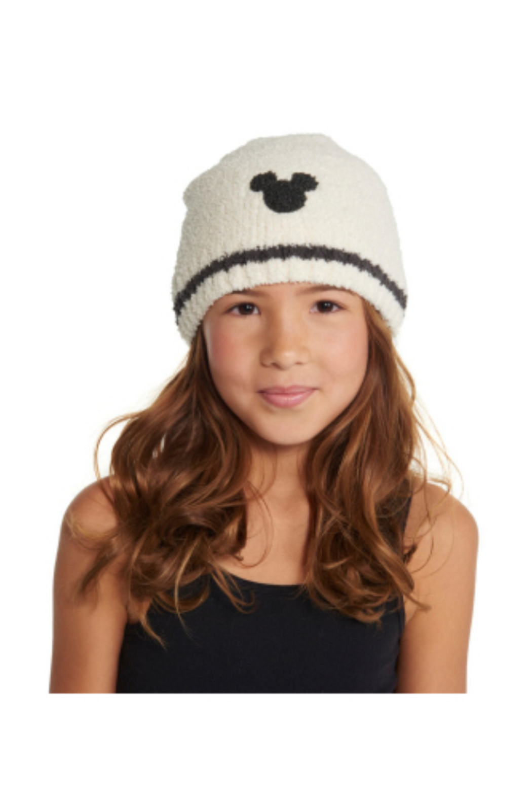 Barefoot Dreams CozyChic Classic Kids Mickey Mouse Beanie - Front Cropped Image