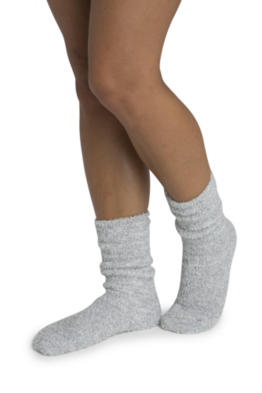 Barefoot Dreams Cozychic Women's Heathered Socks - Front Cropped Image