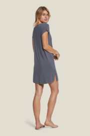 Barefoot Dreams  LMJ Cowl Neck Nightshirt - Front full body