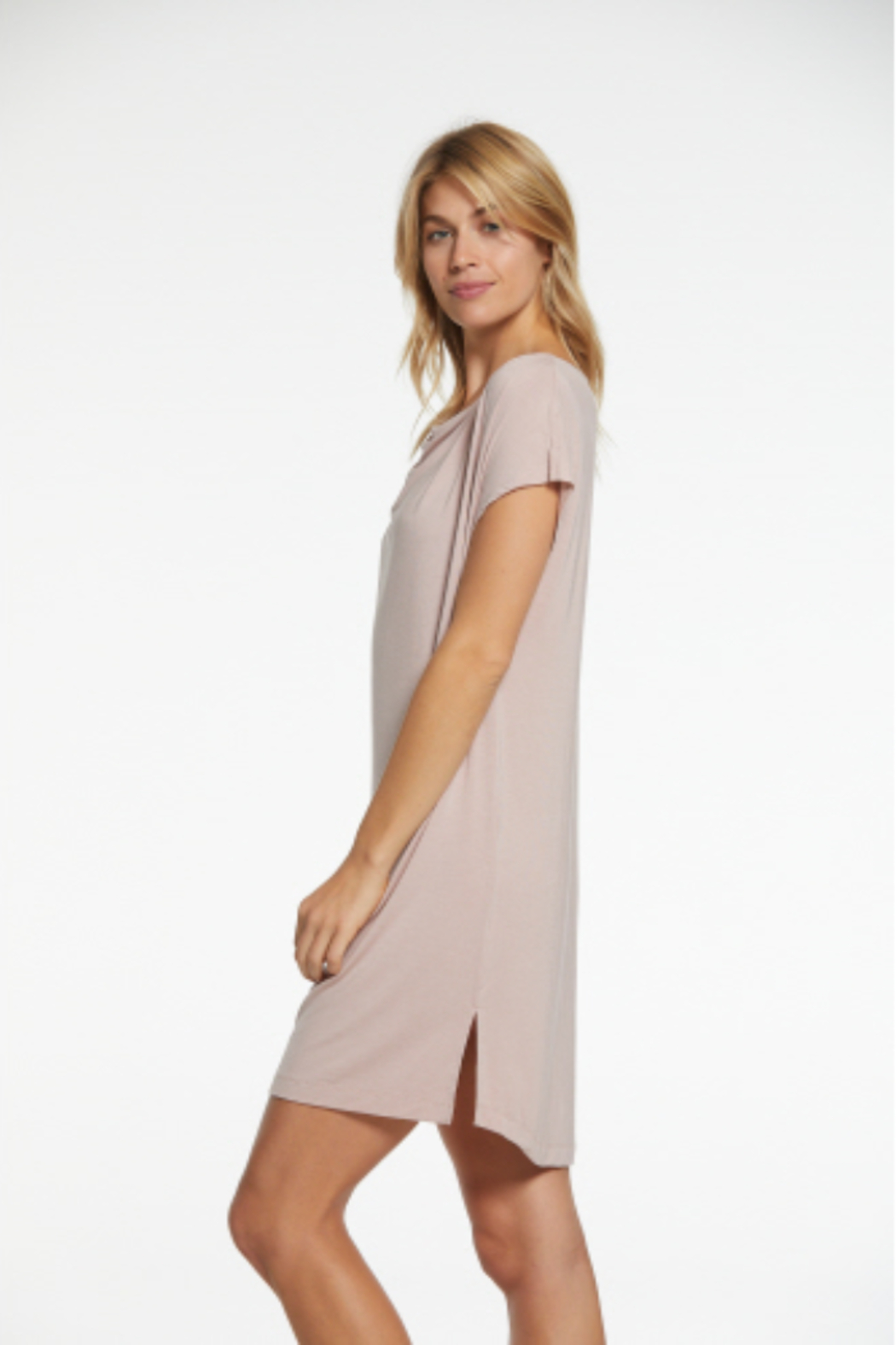 Barefoot Dreams  LMJ Cowl Neck Nightshirt - Front Cropped Image