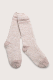 Barefoot Dreams Youth Striped Socks - Front full body