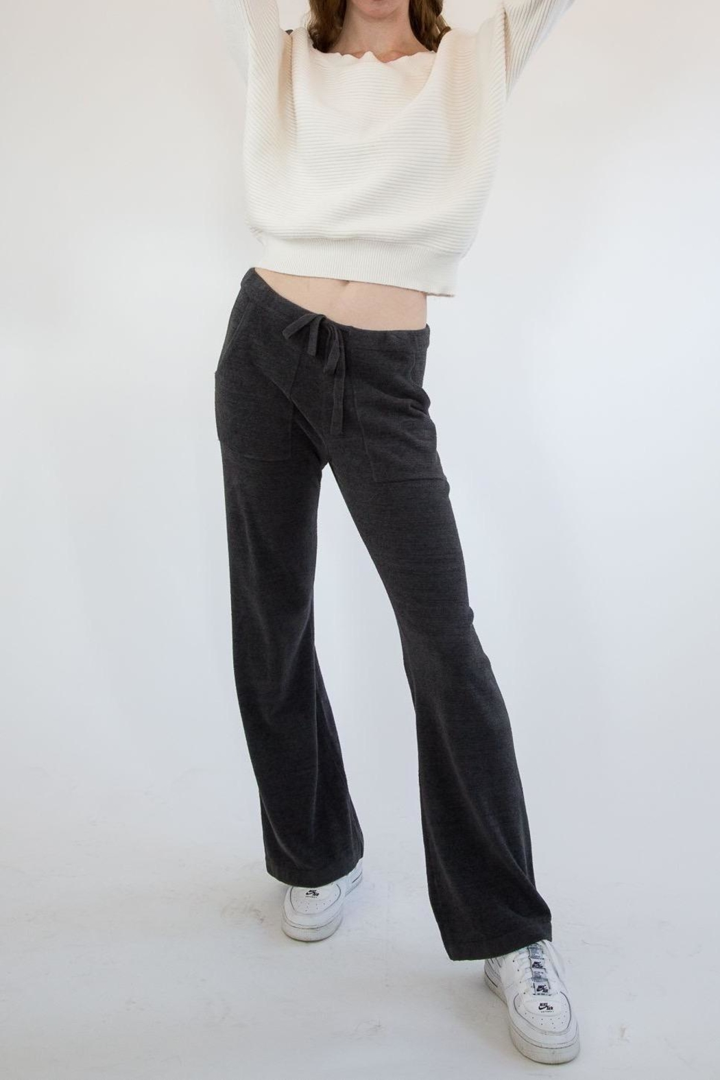 Barefoot Dreams Carbon Sweatpants - Front Full Image