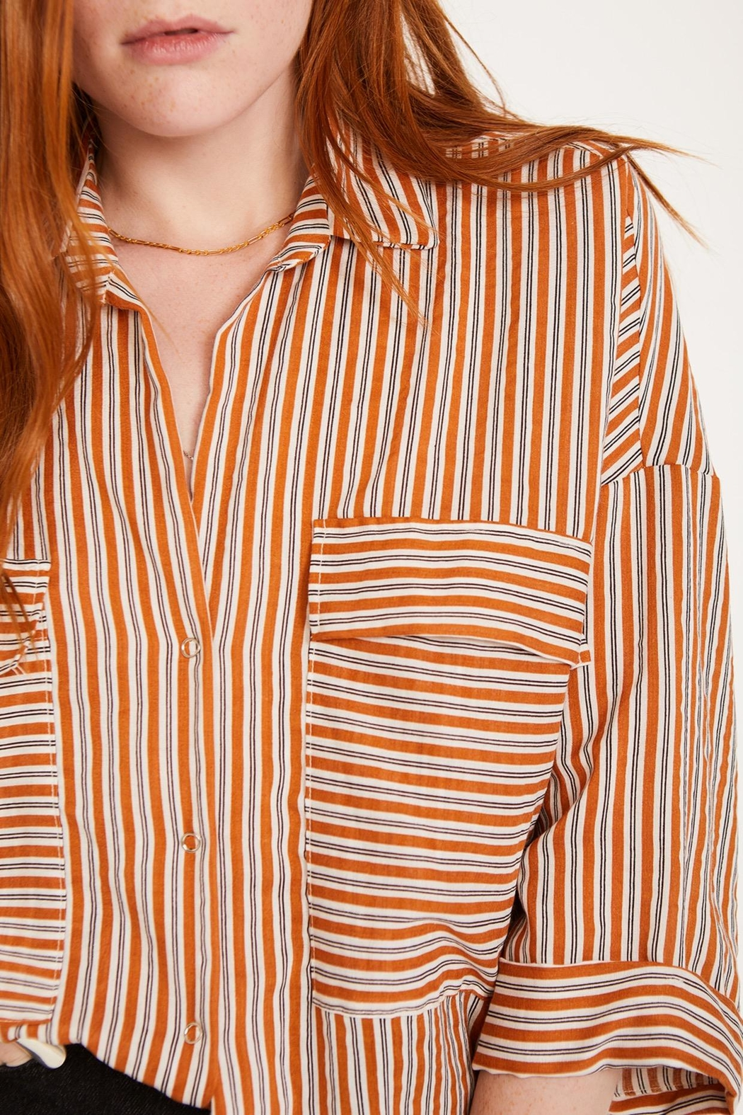 Lovan M Bari Orange Shirt - Side Cropped Image