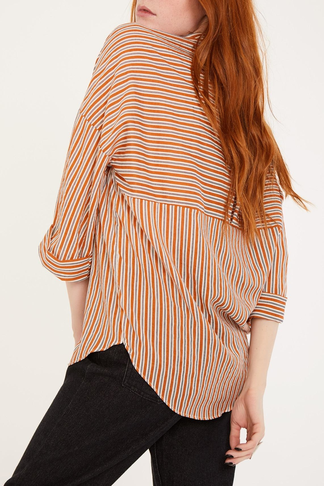 Lovan M Bari Orange Shirt - Back Cropped Image