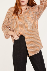 Lovan M Bari Orange Shirt - Front full body