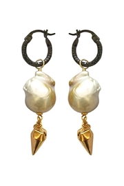 Malia Jewelry Baroque-Pearl Spike Hoops - Product Mini Image