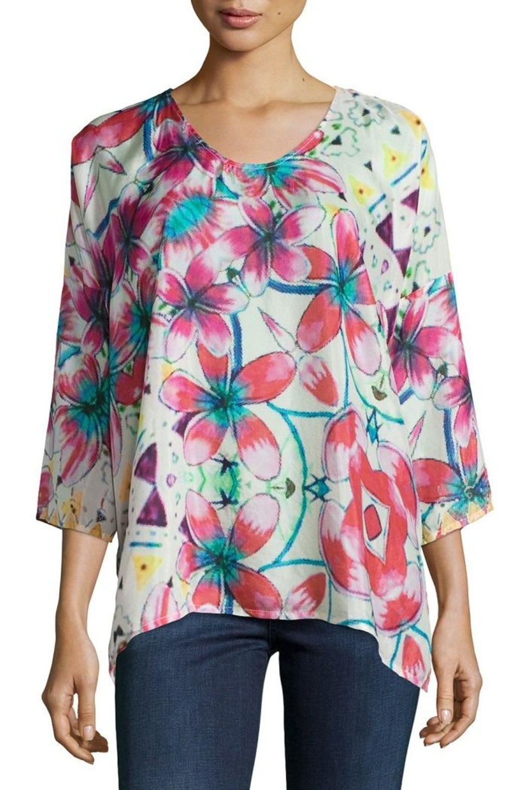 Johnny Was Barra Floral Blouse - Main Image