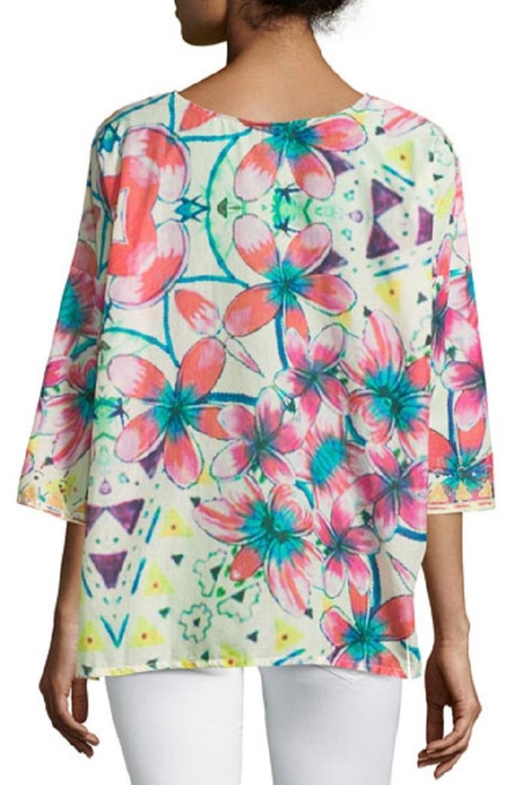 Johnny Was Barra Floral Blouse - Front Full Image