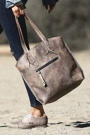 BED STU Barra Leather Tote - Front full body