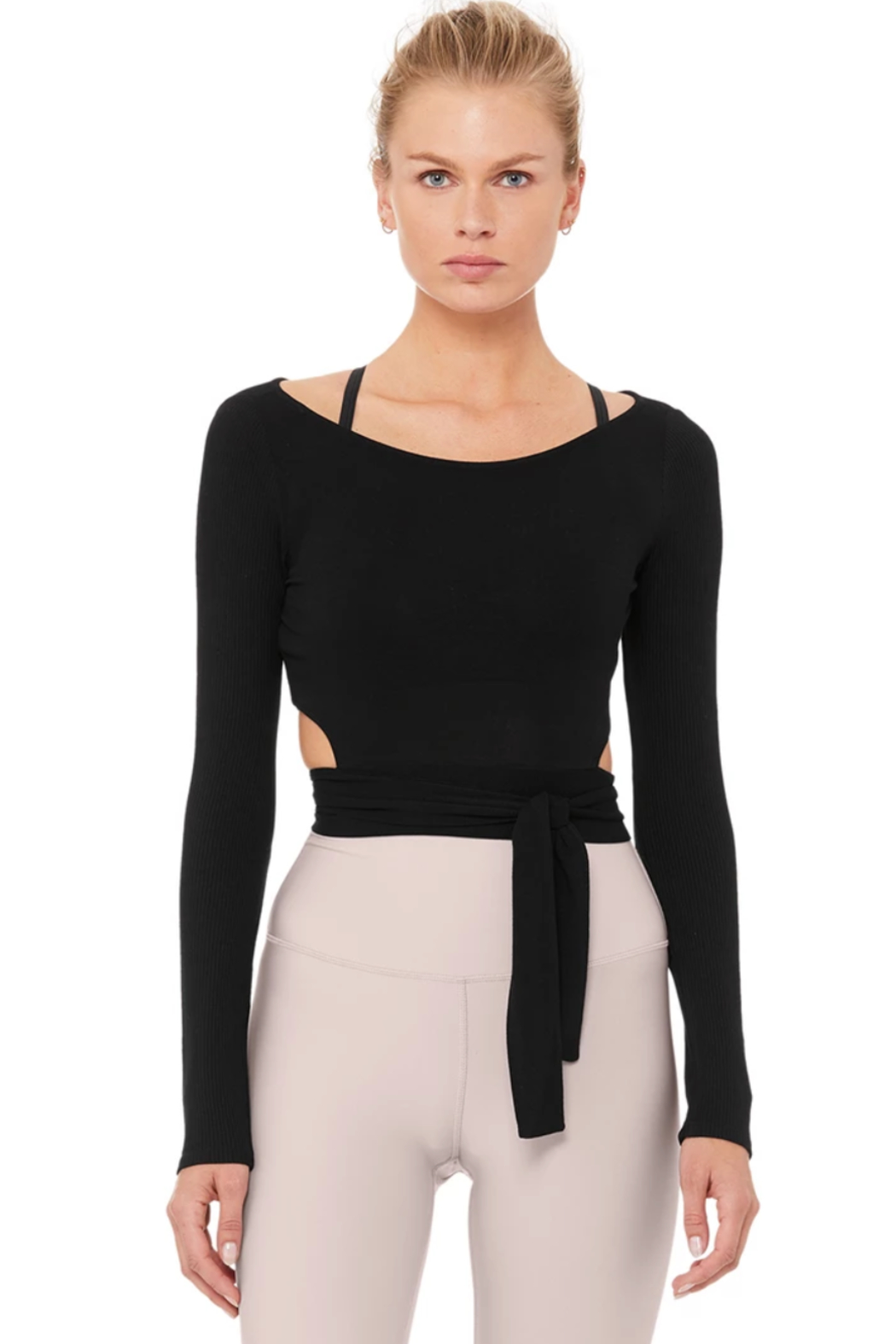 ALO Yoga Barre Long Sleeve Top - Front Cropped Image