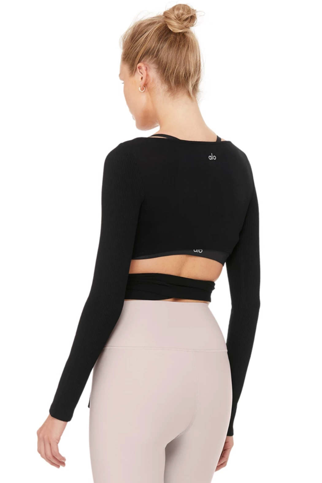 ALO Yoga Barre Long Sleeve Top - Side Cropped Image