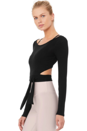 ALO Yoga Barre Long Sleeve Top - Front full body
