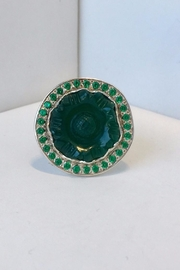 Barry Brinker Fine Jewelry Antique Carved Jade Ring - Product Mini Image