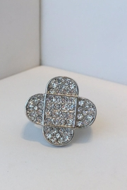 Barry Brinker Fine Jewelry Clover White Sapphire Ring - Product Mini Image