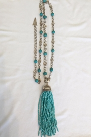 Barry Brinker Fine Jewelry Silver Turquoise Tassel - Product Mini Image