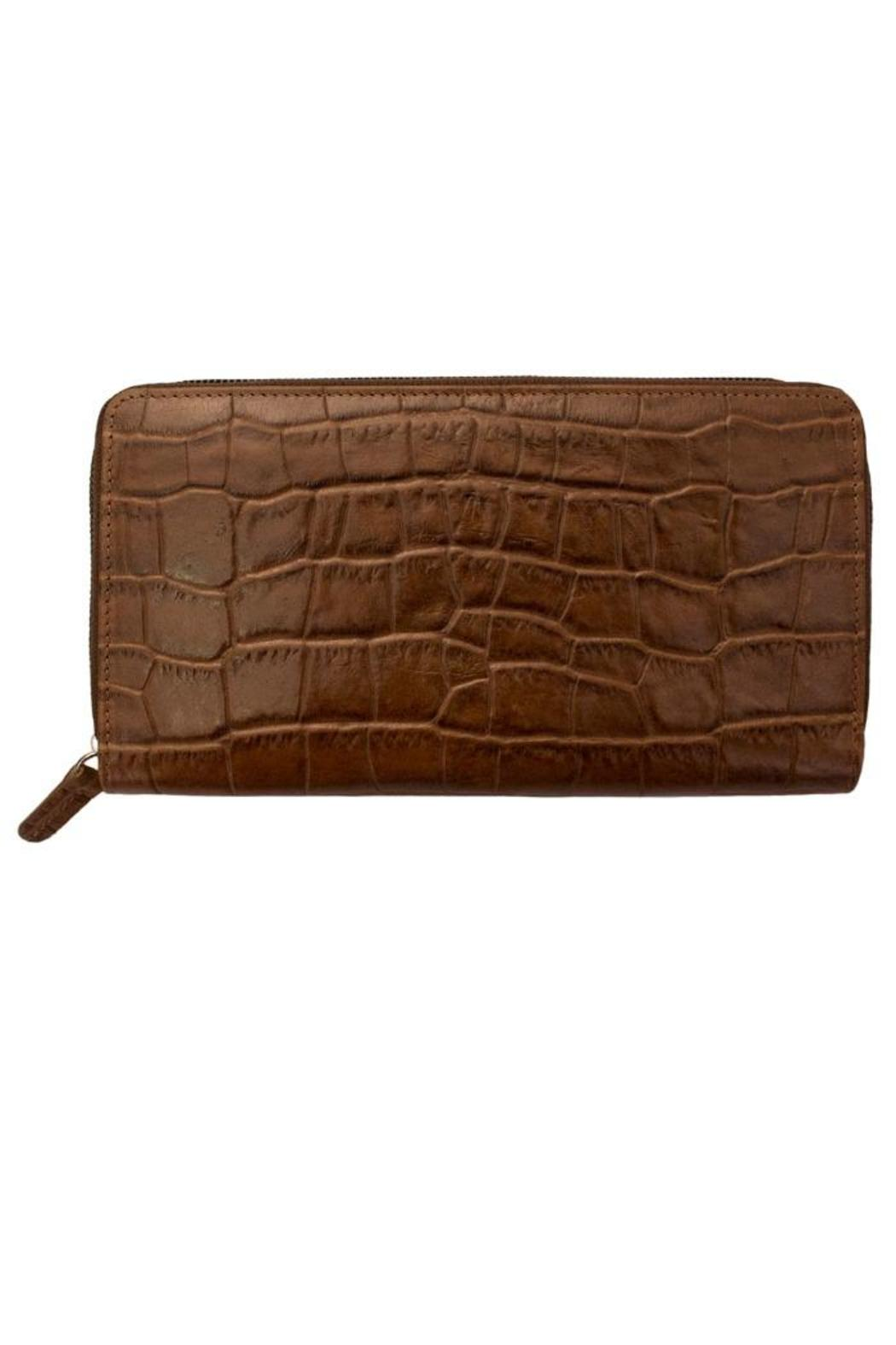 BAS Croco Zip-Around Wallet - Front Cropped Image