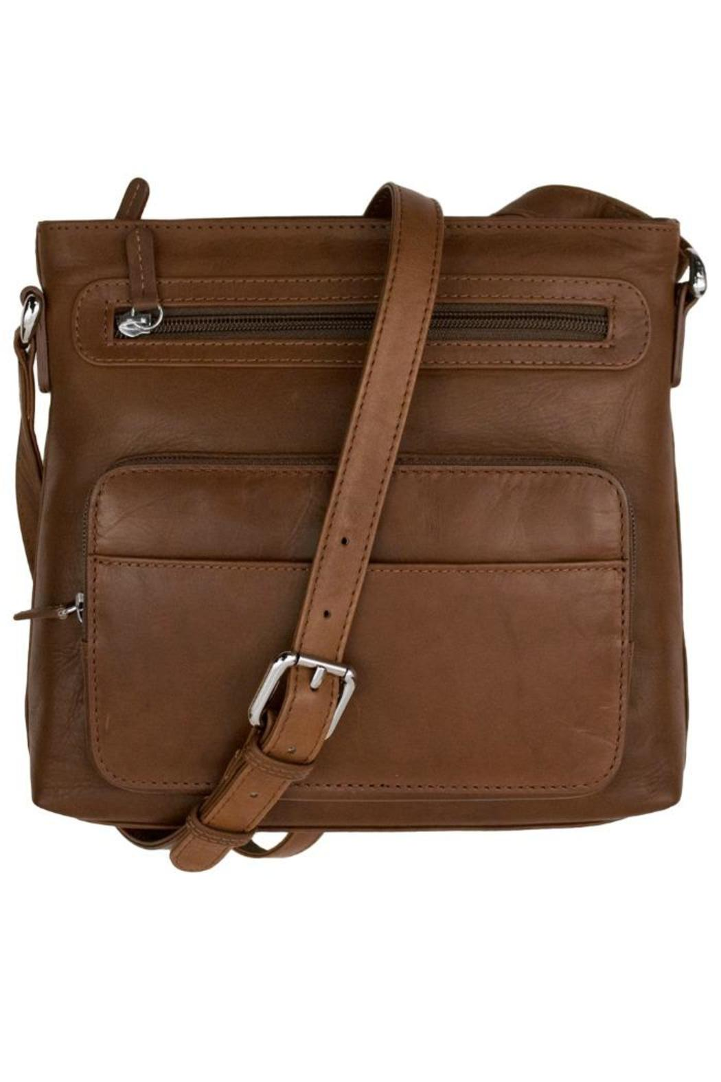 BAS Leather Cross-Body Bag - Front Cropped Image