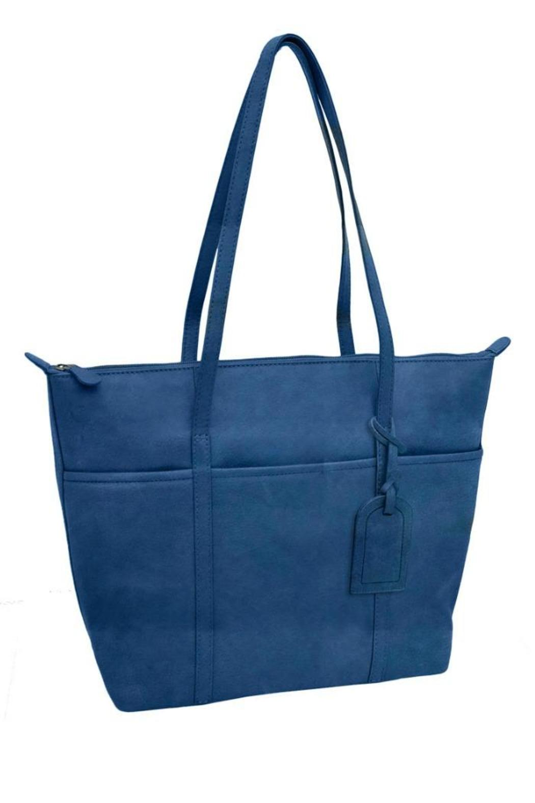 BAS Leather Tote Bag - Front Cropped Image