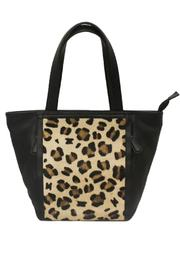 BAS Satchel Leopard-Print Leather - Front cropped