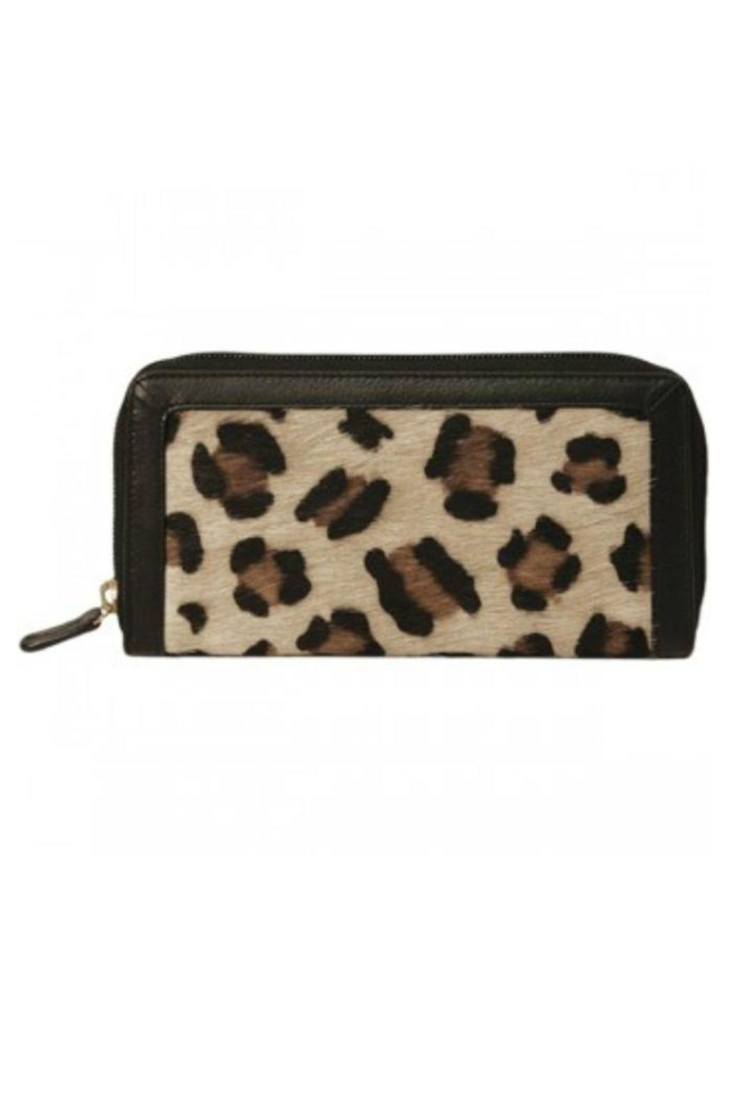 BAS Zip-Around Leopard Wallet - Front Cropped Image