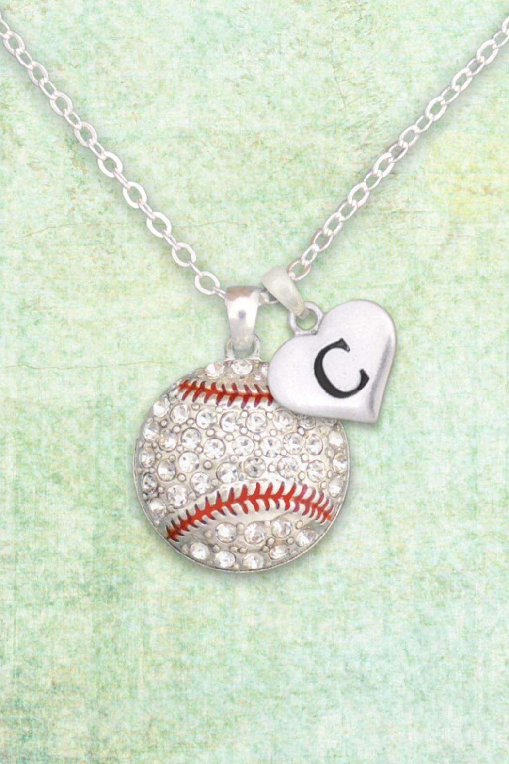 JChronicles Baseball-Necklace With Initial - Main Image