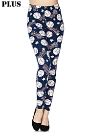 New Mix Baseball Print Leggings - Product Mini Image