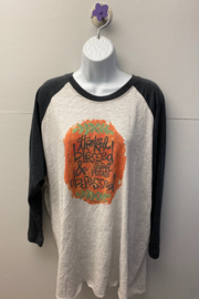"""Kindred Mercantile  Baseball tee """"Blessed & Obsessed"""" - Product Mini Image"""